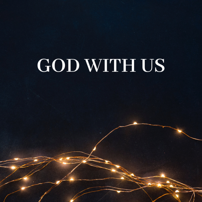 Christmas is… about God with us